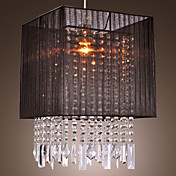Stylish Pendant Light with Black Fabric Shade