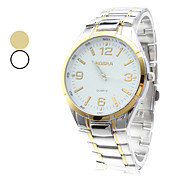Unisex Simple Design Alloy Analog Quartz Wrist Watch (Assorterede farver)