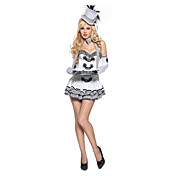 Retro Fancy Lace White Nylon Princess Suits(4 Pieces)