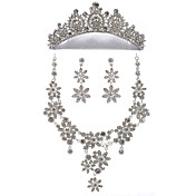 Amazing Alloy With Rhinestone Women's Jewelry Set Including Necklace,Earrings,Tiara