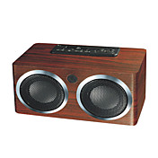 PN-06 Fine wooden box, double horn portable card speaker