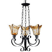 60W E27 Hollowed-out Style Iron Chandelier with 4 Lights