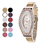 Women's Fashionable Style PU Analog Quartz Wrist Watch (Assorted Colors)