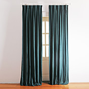 (Two Panels) Traditional Peacock Color Lined Curtains