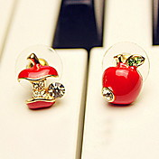 kvinners mini apple studs