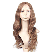 New Glue-less Cap With Combs Body Wave 16&quot; Brown 100% Indian Remy Lace Wig