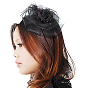 Black Lace Rose Flower Aristocrat Lolita Headwear