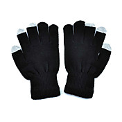 Black Unisex Guantes Touch Screen Knit