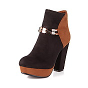 Fabulous Leatherette Chunky Heel Ankle Boots With Split Joint Party / Evening Shoes (More Colors)