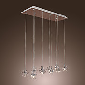 Egypt Imported Crystal 10-Light Bar Pendant Light in Floral Shape