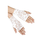 Women's Lace Fingerless Wrist Length Fashion/Party Gloves (More Colors)