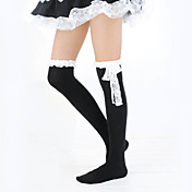 White Lace Cotton Classic Lolita Stockings