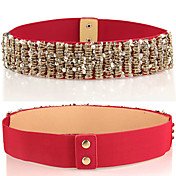 Women's Basic Trendy Sequin Strands PU Leather Waist Belt(71*5*0.2CM)