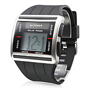 Reloj Pulsera Digital y Mecnico De Barras Con Correa de Hule - Negro
