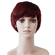 Capless Short Red Wavy High Quality Synthetic Japanese Kanekalon Wigs
