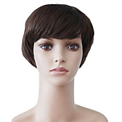 Capless Short Brown Wavy High Quality Synthetic Japanese Kanekalon Funny Parties Wigs
