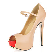 unike lr stiletto hl peep toe med spenne fest / kveld sko