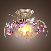 Floral Ceiling Light in Rose Featured Decorration