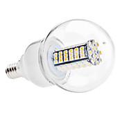 E14 5W 102x3528 SMD 400-420LM 3000-3500K Warm White Light LED Ball Bulb (110V/220V)