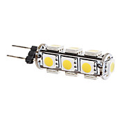 G4 2W 13x5050 SMD 160-180LM 3000-3500K Warm White Light LED Corn Bulb (12V)