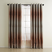 (Two Panels) Contemporary Shade Print Tree Blackout Curtain Set
