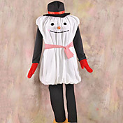 Mr. Snowman White and Black Velvet Mascot Costume