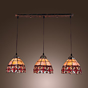 40W Modern Glass Pendant Light in Round Brown Bubble Design
