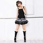 Short Polka Dots Cotton Gothic Lolita Skirt(Waist: 66-80CM)(2 Colors)