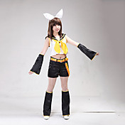 traje de cosplay vocaloid rin inspirado en
