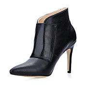 Gorgeous Leatherette Stiletto Heel Ankle Boots With Buckle Party / Evening Shoes