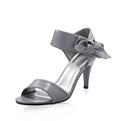 Leatherette Upper Stiletto Heel Sandals With Bowknot Wedding/ Party Shoes.More Colors Available