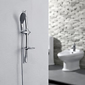 Contemporary Chrome Finish Wall Mount Sliding Shower Faucet With Hand Shower