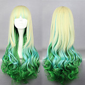 Lolita Wig Inspired by Zipper Elflord Golden and Green Mixed Color 75cm Cosplay