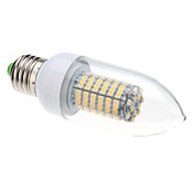 E27 8W 138x3528SMD 620LM 3000-3500K Warm White Light LED Candle Bulb (220V)