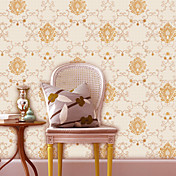 Retro Damask Fiberdug Wall Paper 1301-0046