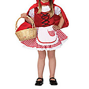 Gute Little Girl Red and White Cotton Kids Halloween Costume(2 Pieces)