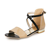 Patent Leather Low Heel Sandals With Buckle Party / Evening Shoes (More Colors)