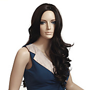 Capless High Quality Synthetic Long Wavy Auburn Wigs