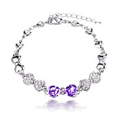 Chic Alloy With Crystal / Rhinestone Women's Bracelet (More Colors)
