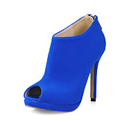 Suede Stiletto Heel Peep Toe / Ankle Boots With Zipper Party / Evening Shoes (More Colors)
