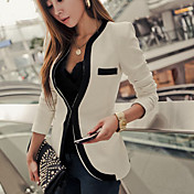 Women's Slim Blazer with Piping Detail