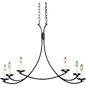60W Contemporary Chandelier with 6 Lights and Elegant Metal Bracket