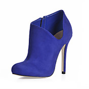 Suede Stiletto Heel Ankle Boots With Zipper Party / Evening Shoes (More Colors)