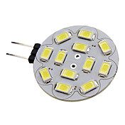 G4 6W 12x5730SMD 550-570LM 6000-6500K Natural White Light LED Spot Bulb (12V)
