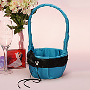 Flower Basket In Blue Satin mit Black Sash