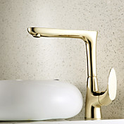 Ti-PVD Finish Antique Style Centerset Brass Kitchen Faucet
