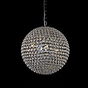 Crystal Ceiling Light with Colourful LEDs in Globe Shaped Design