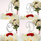 Gorgeous Rhinestone Monogram Wedding Cake Topper