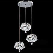 180W Modern Crystal Pendant Light med 9 Lights i spiralsnoet Metal Design