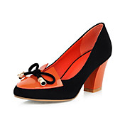Chic Suede Chunky Heel Pumps With Bowknot Party / Evening Shoes (More Colors)